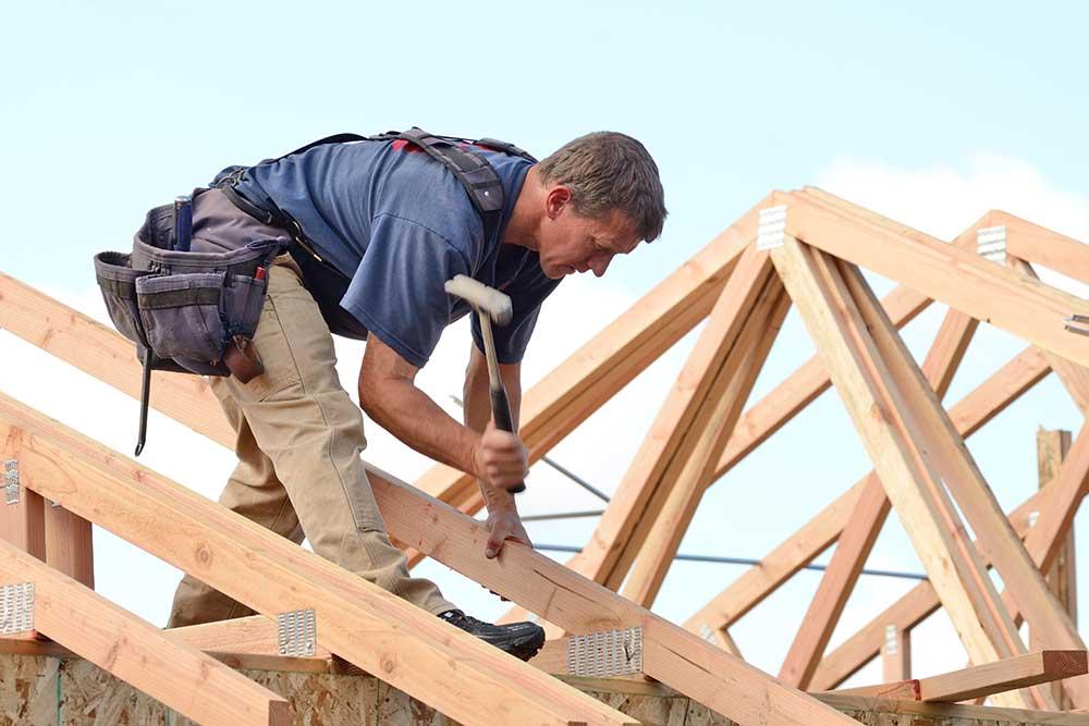 Dachdecker Dachstuhl, Holz