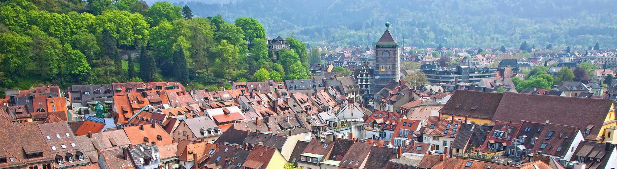 Über den Dächern von Freiburg im Breisgau